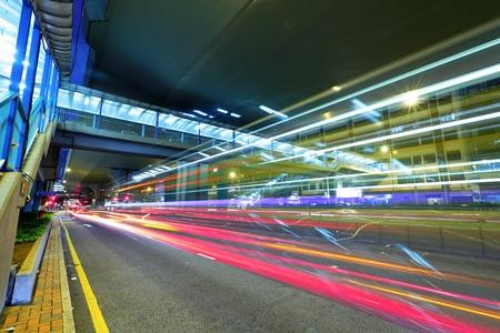 modern city traffic at night Stock Photo - 12191750