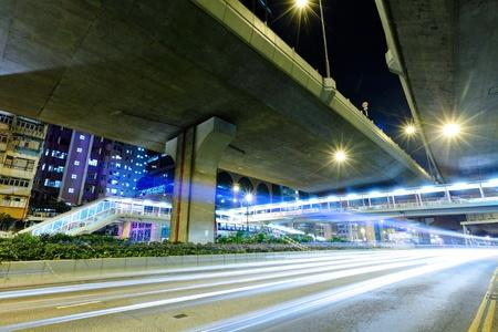 street night: light trails on highway