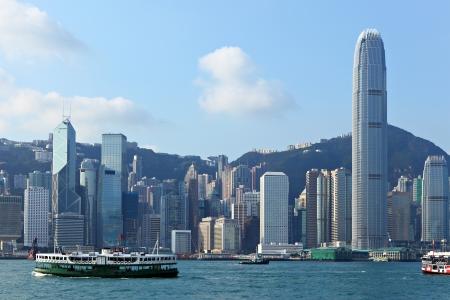 Hong Kong harbour Stock Photo