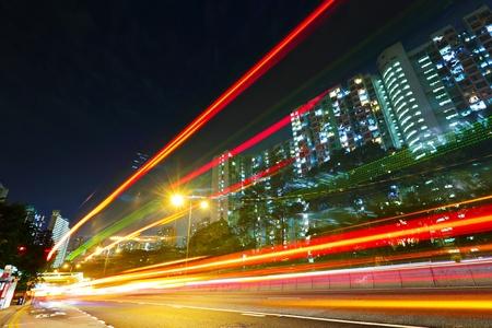 urban traffic at night Stock Photo - 12191910