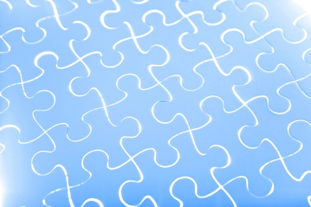 Puzzle in blue photo