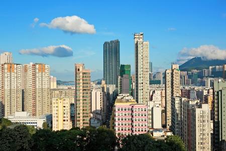 Hong Kong crowded building photo