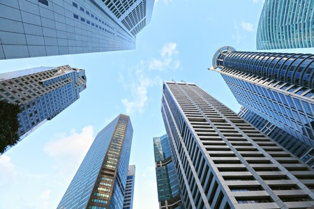 highrise buildings at Singapore