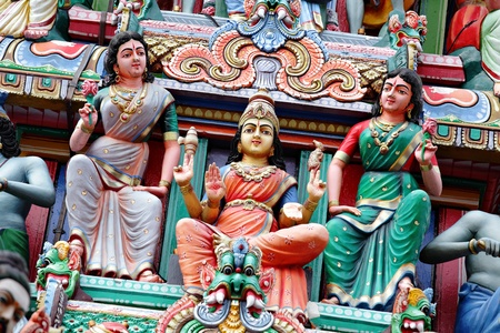 statue in hindu temple photo
