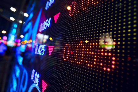 investment goals: stock market price display abstract