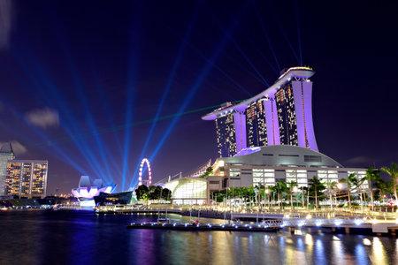 jachthaven: Singapore stadsbeeld Redactioneel
