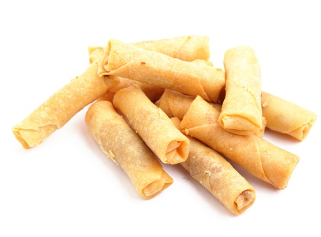 spring roll: small spring roll Stock Photo