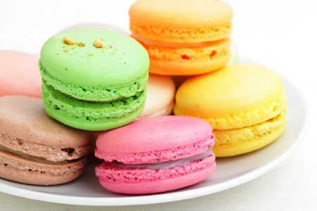 Colorful french macaroons Stock Photo - 12557378