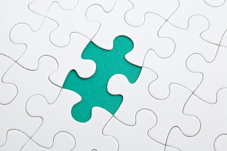 puzzle with green piece missed photo