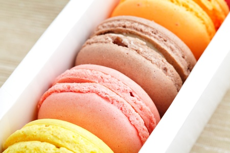 macaroon in box photo
