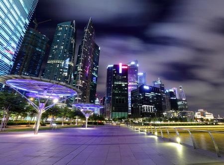 night scene of Singapore