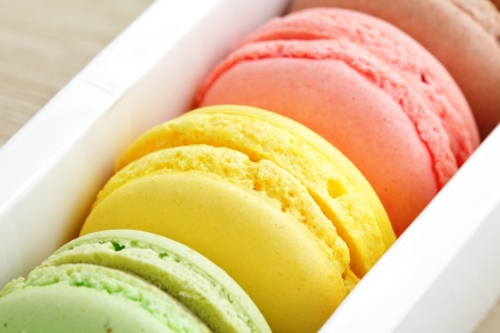 macaroons in box Stock Photo