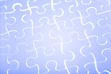 Puzzle in blue Stock Photo - 12670389