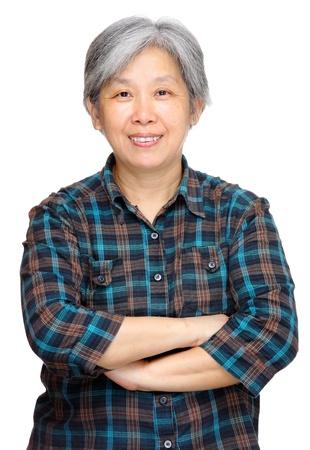 pretty black woman: mature asian woman smile