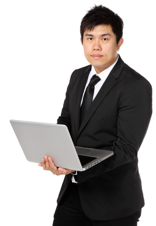 Business Man use computer Stock Photo - 12981153