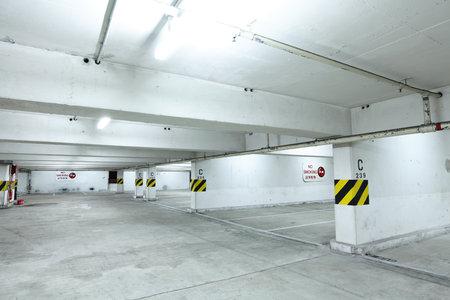 multi story car park: parking garage at night
