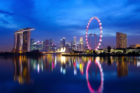 Singapore at night Stock Photo - 12877272