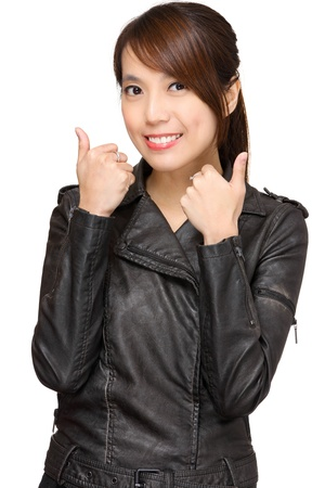 woman with thumb up Stock Photo - 12989341