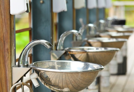 sinks and taps outdoor Stock Photo - 12973982