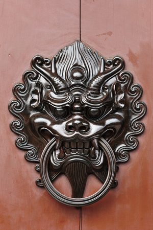 chinese style lion door lock photo