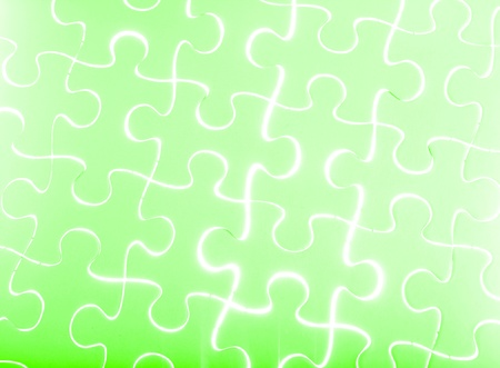 Puzzle in green photo