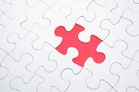puzzle with missing parts photo