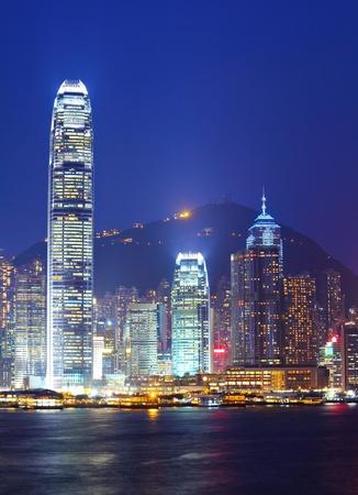 Hong Kong cityscape at night photo
