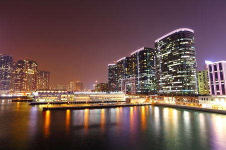 kowloon at night photo