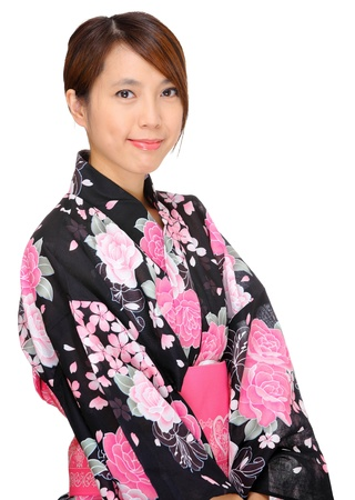 woman in kimono, Japan cloth photo
