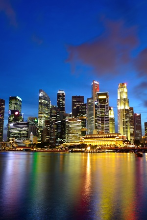city night view for singapore photo