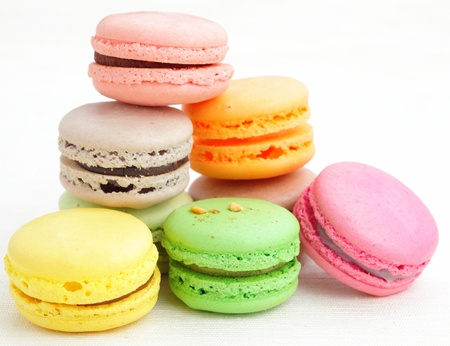 brown: Colorful macaroons