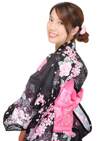 japanese kimono woman Stock Photo - 13333836