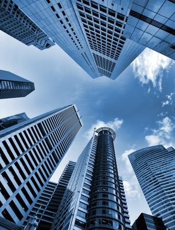 urban scenics: Skyscrapers in blue tone