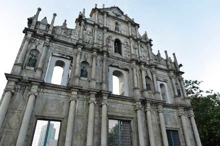 ruins of St. Pauls Cathedral in Macao photo