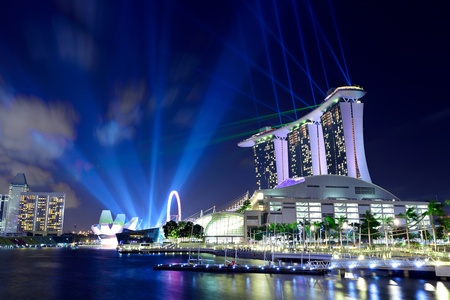 Singapore by night Stock Photo - 13512743