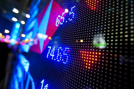 stock market price display abstract photo