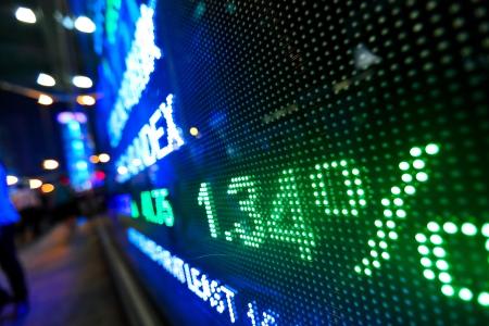 stock market price display abstract Stock Photo - 13614858