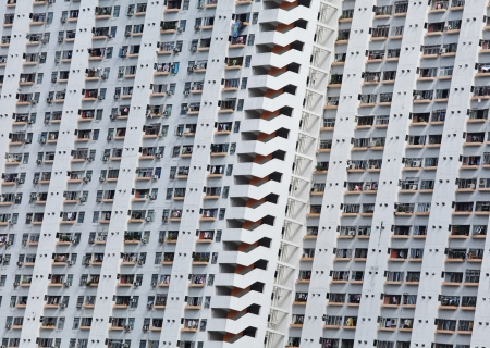 public apartment block in Hong Kong photo