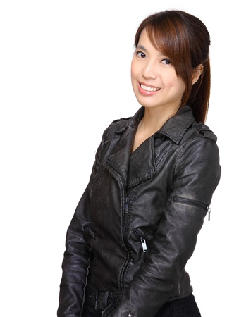 young asian woman over white background Stock Photo - 13799813