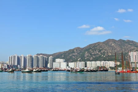 typhoon shelter in Hong Kong, Tuen Mun photo
