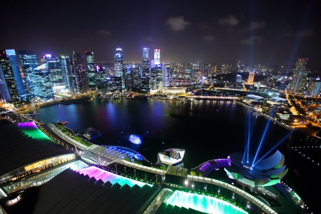 Singapore at night photo