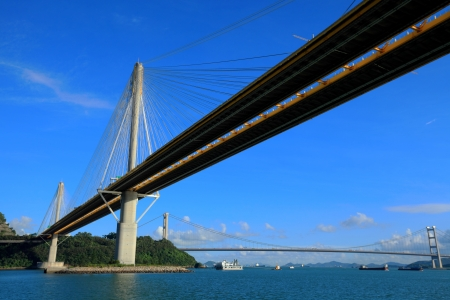kong river: Ting Kau bridge