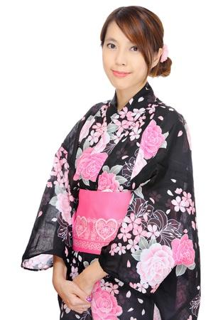 kimono: mujer, kimono japon�s Foto de archivo
