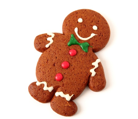christmas drink: gingerbread man cookie