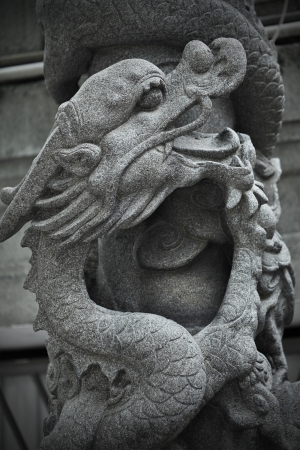 chinese dragon statue photo