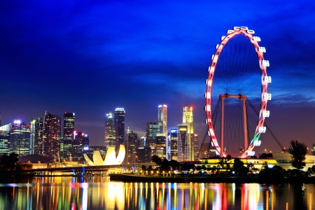 singapore culture: Singapore city by night