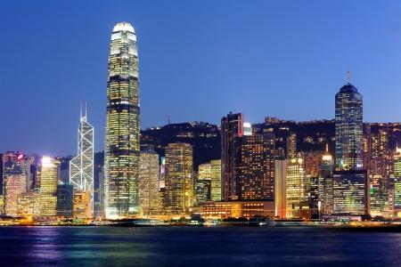 Hong Kong Skyline por la noche