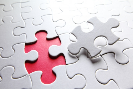 integrated: puzzle with missing piece