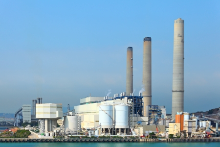 coal fired: Coal fired power plant