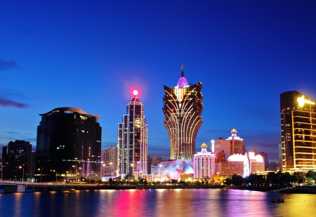 Macau at night Redakční